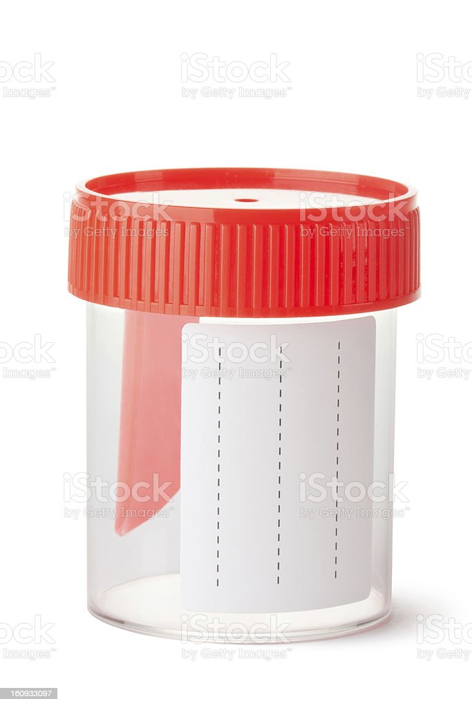 Sterile medical container for biomaterial royalty-free stock photo