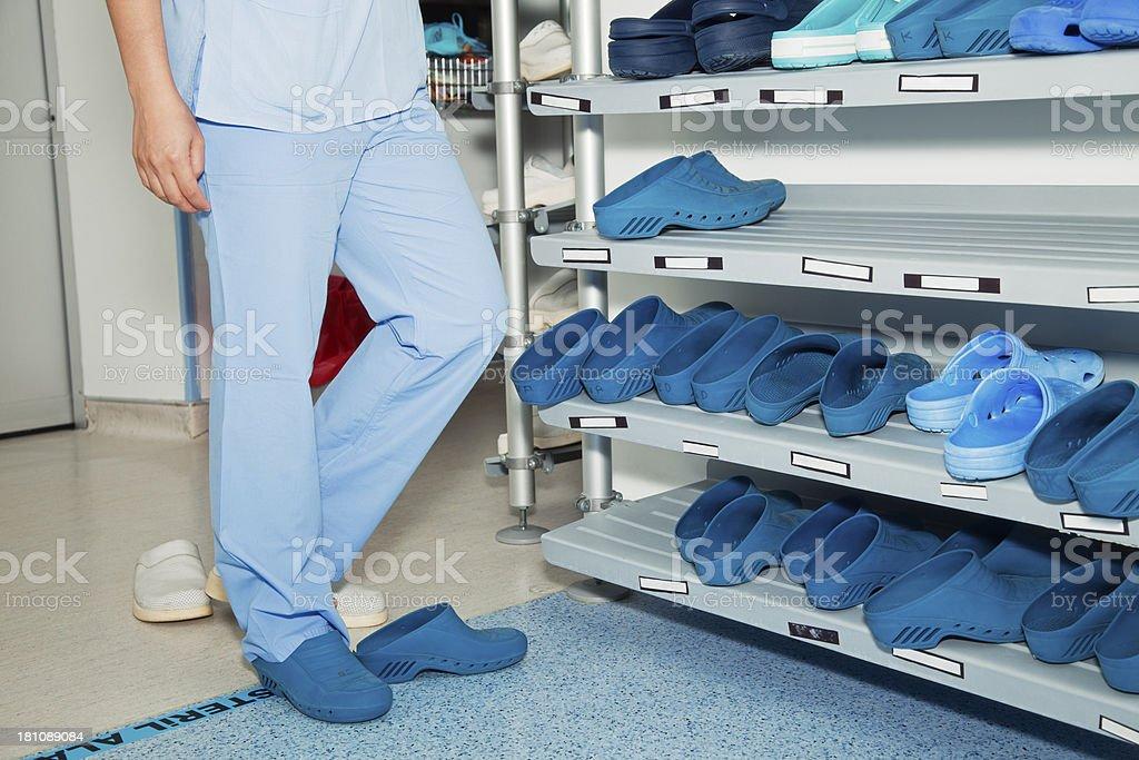 Sterile Zone stock photo