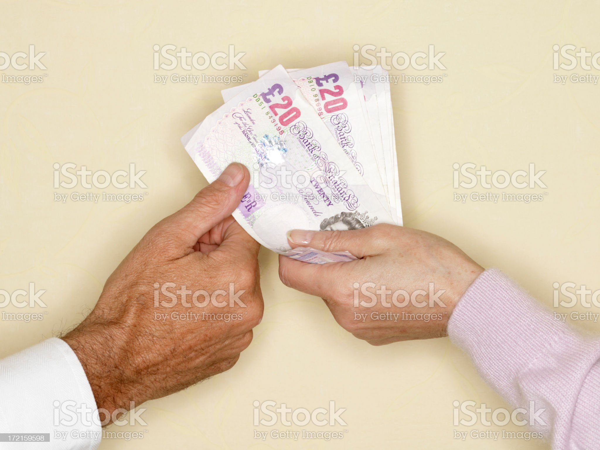 Sterling Banknotes royalty-free stock photo