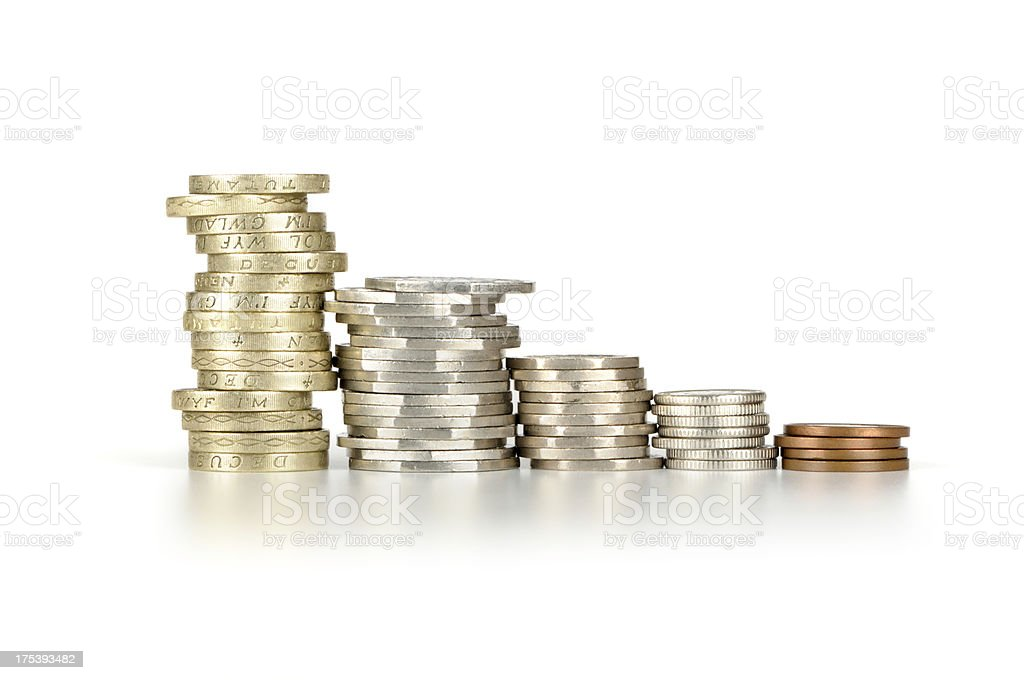 Sterling loss royalty-free stock photo