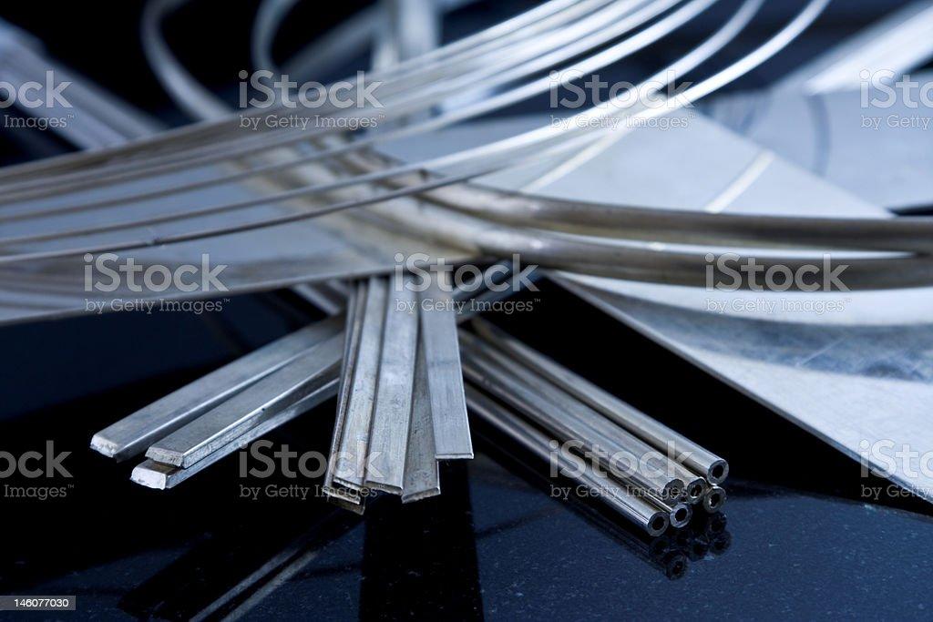 Sterling-Silber mit Material Lizenzfreies stock-foto