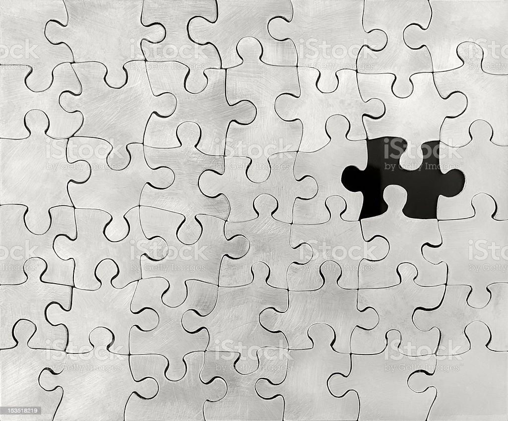 Sterling-Silber-Puzzle Lizenzfreies stock-foto