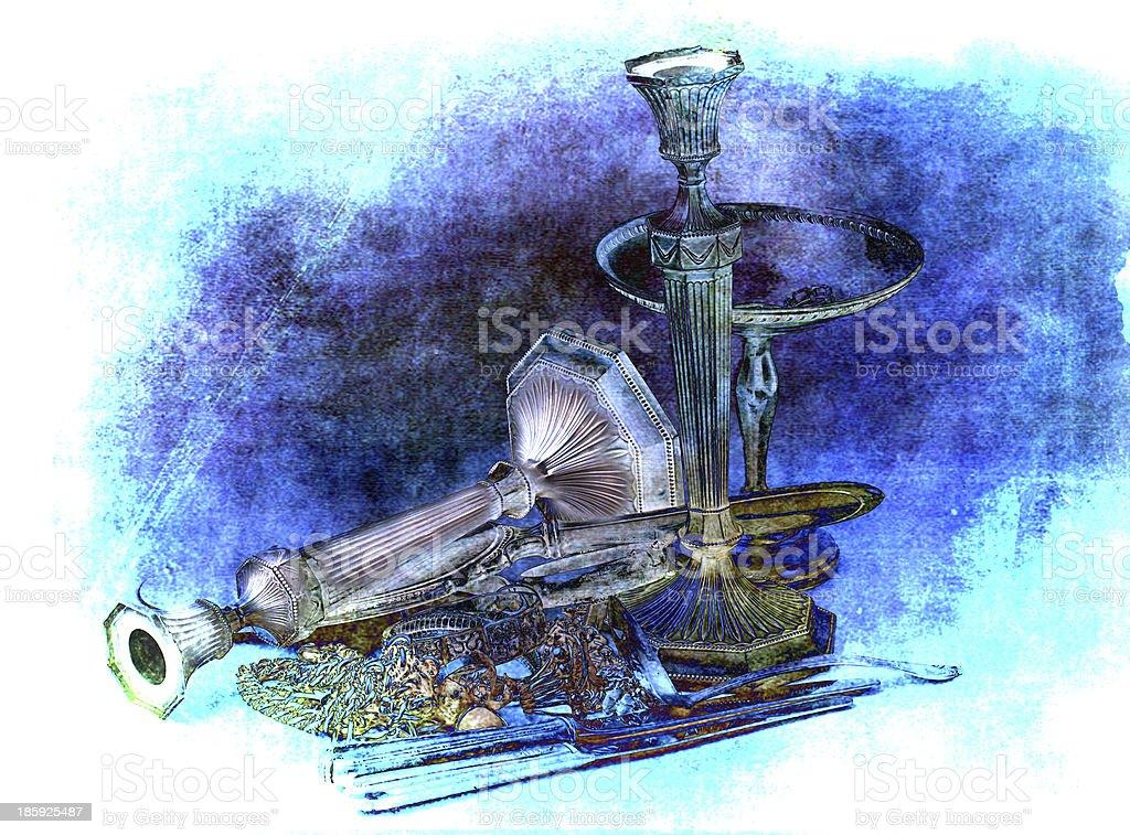 Sterling Silver Scrap stock photo