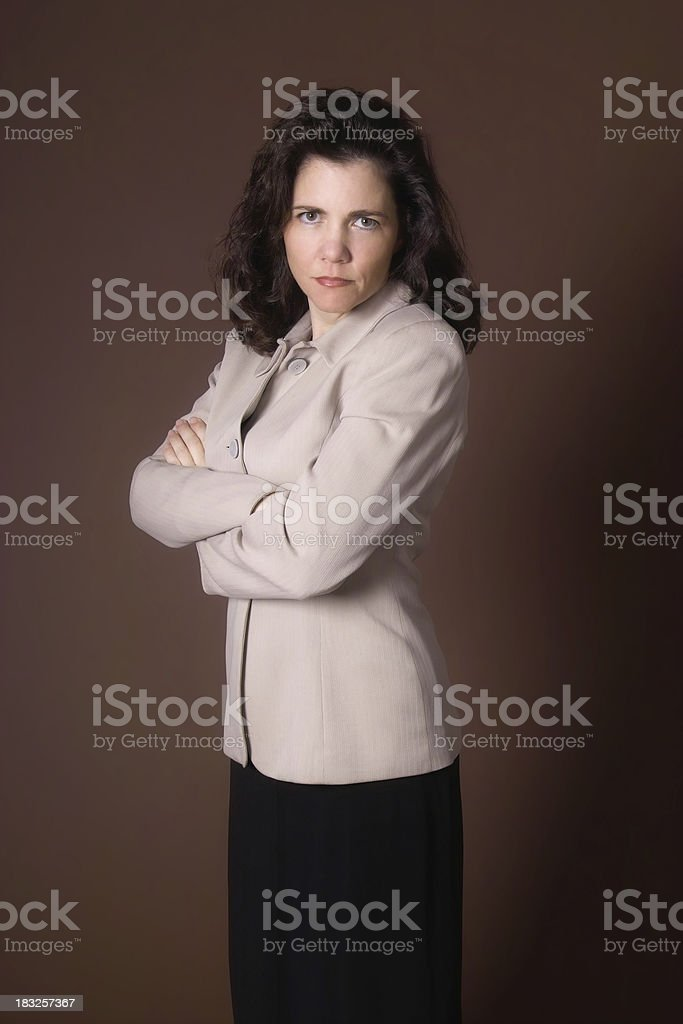 Stern Businesswoman royalty-free stock photo
