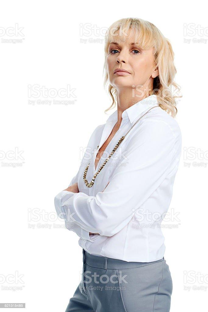 Stern Businesswoman stock photo