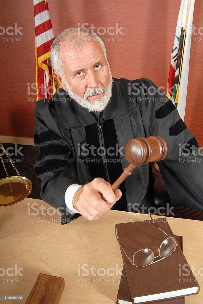 Stern judge royalty-free stock photo