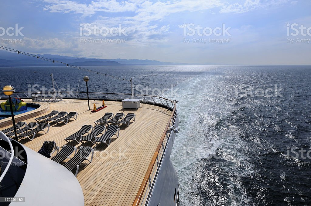 Stern of a cruise ship. royalty-free stock photo