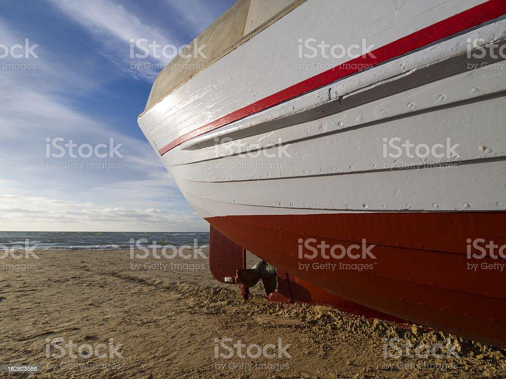 Stern of a Danish fishing boat royalty-free stock photo