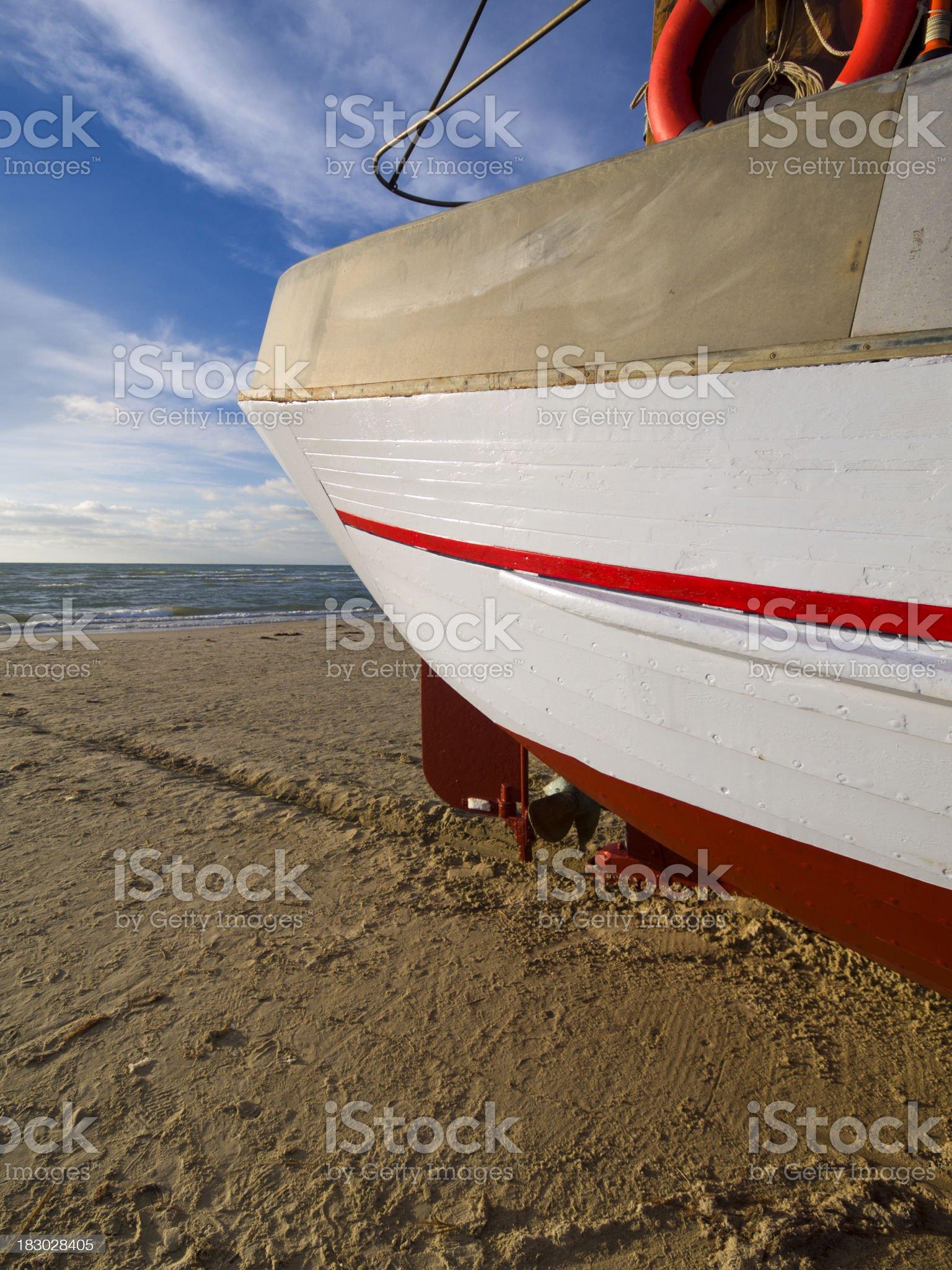 Stern of Danish fishing boat royalty-free stock photo