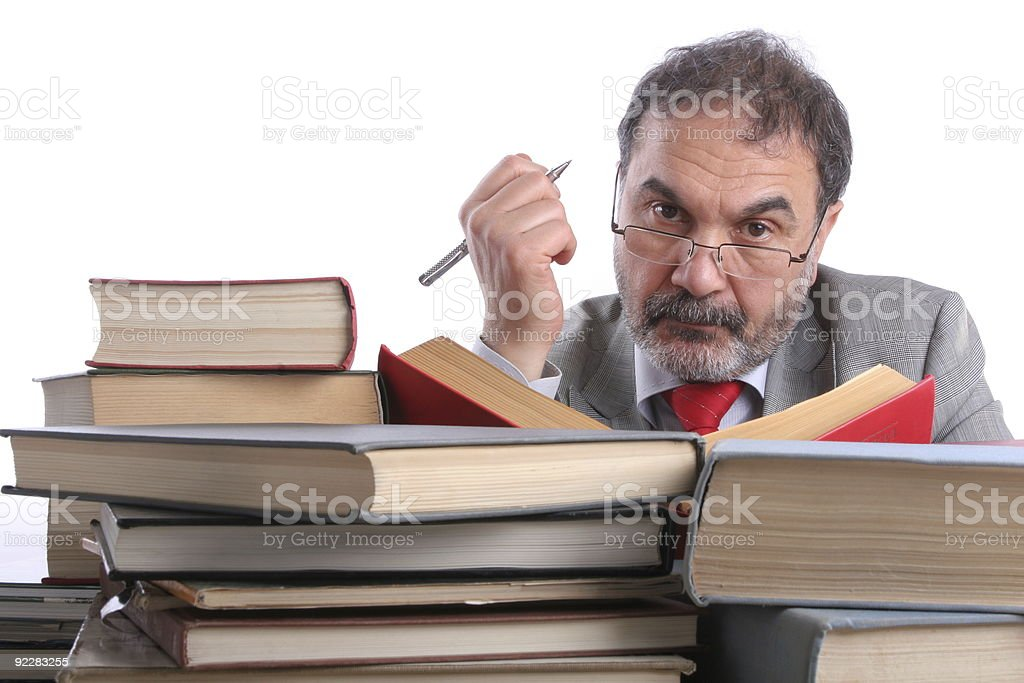 stern professor stock photo
