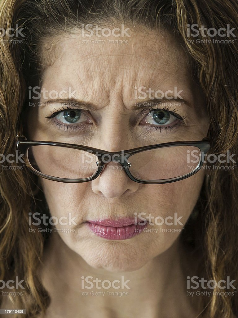Stern School Teacher stock photo