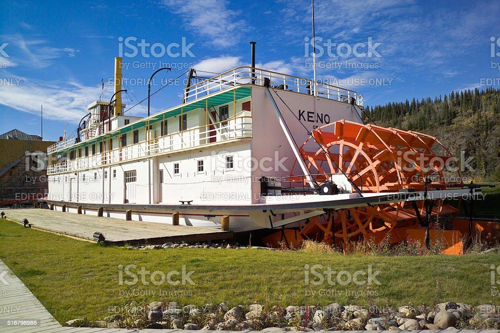 Stern wheeler SS Keno, Dawson City, Canada stock photo