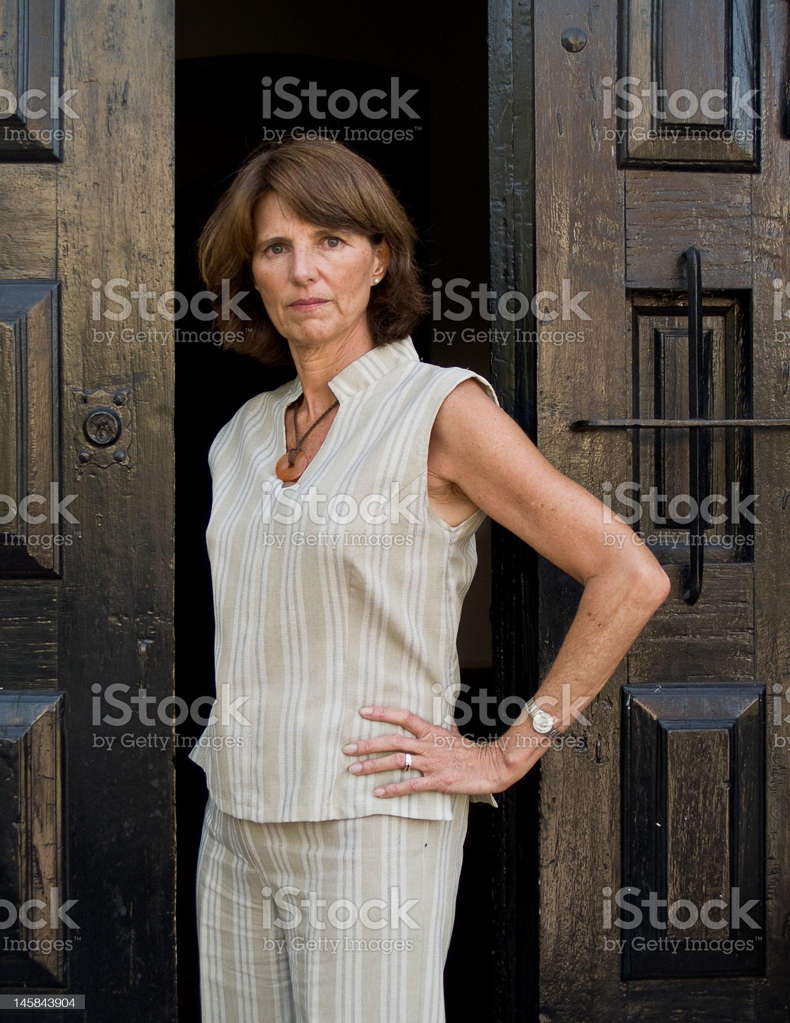 Stern Woman royalty-free stock photo
