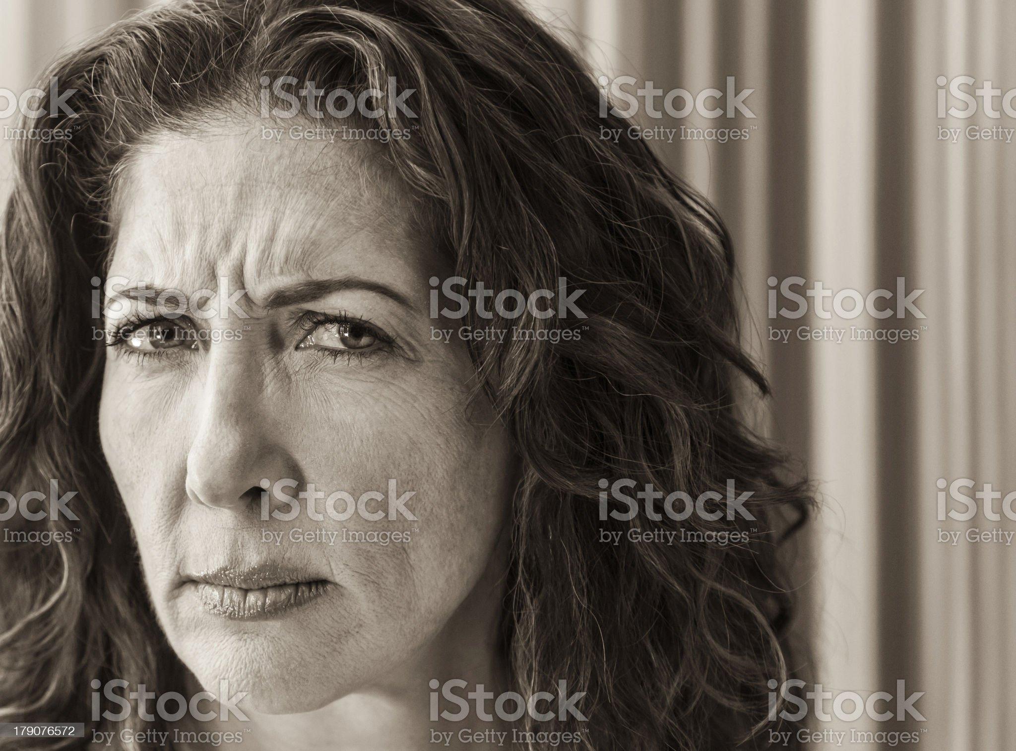 Stern Woman Portrait royalty-free stock photo