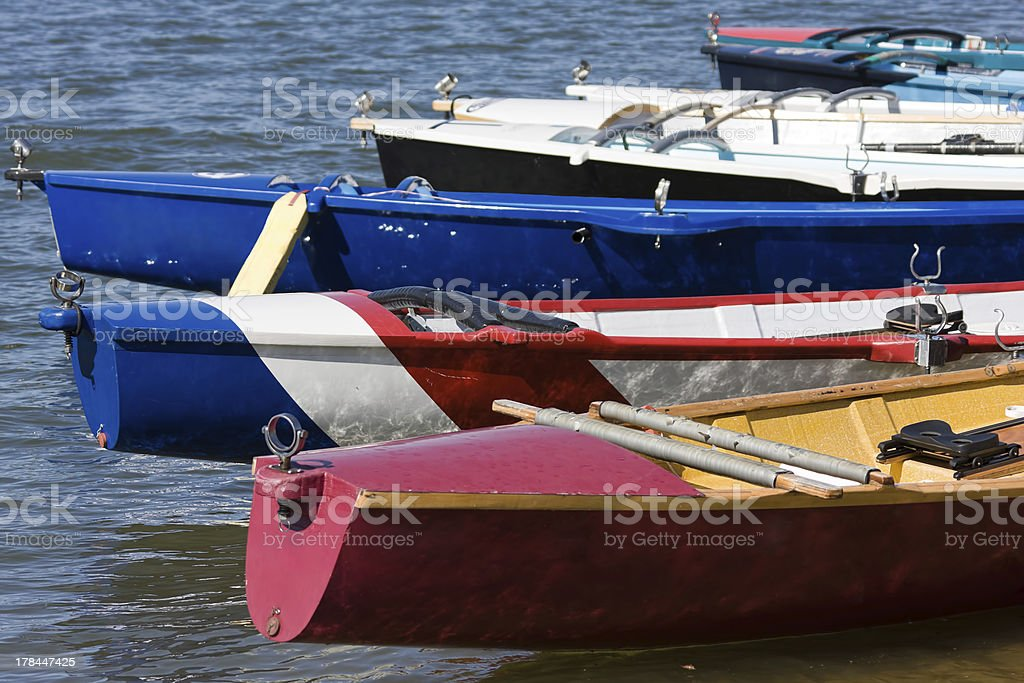 Stern's of Surf Boats stock photo