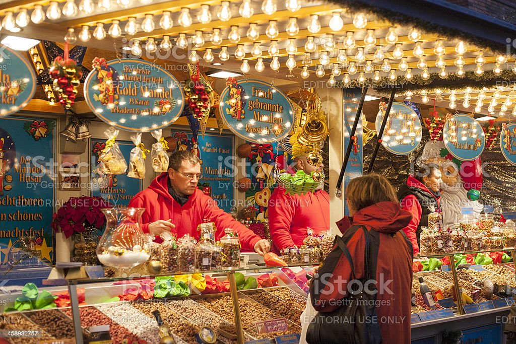Sternschnuppenmarkt Wiesbaden stock photo