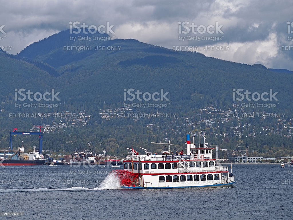 Sternwheeler in Vancouver Harbour, British Columbia, Canada stock photo