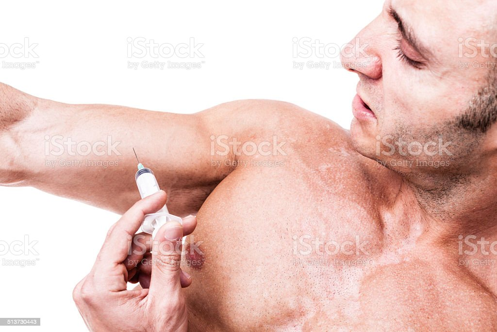 Steroids stock photo