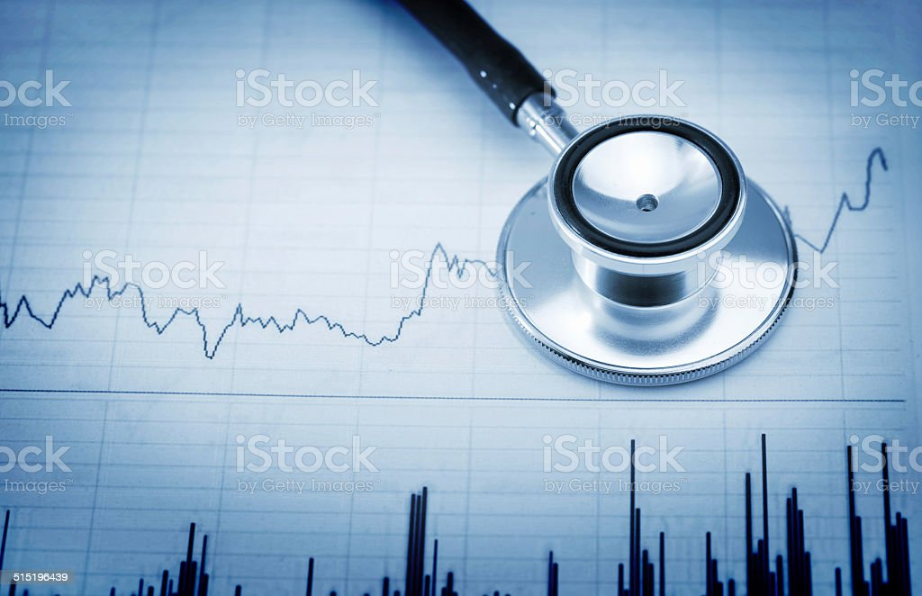 Stethoscope and  Chart stock photo