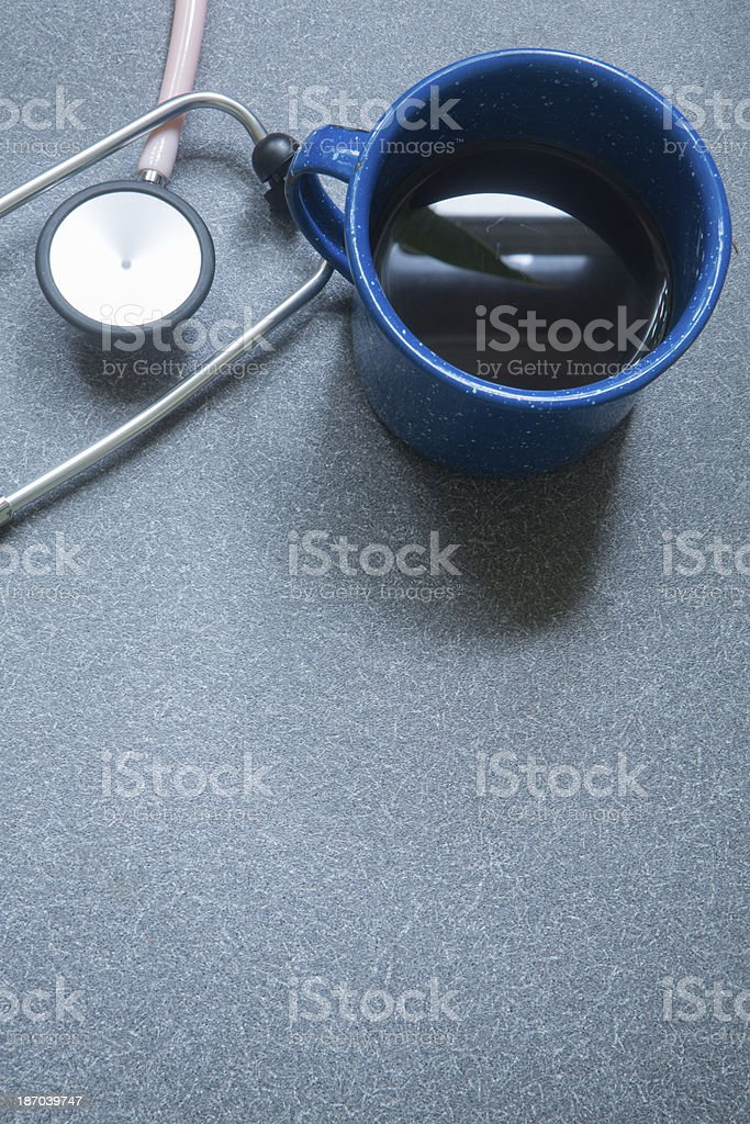 Stethoscope and Coffee royalty-free stock photo