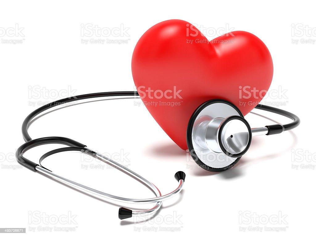 Stethoscope and heart royalty-free stock photo