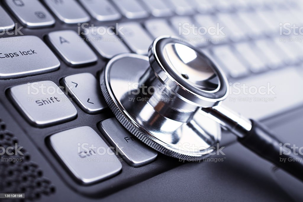 Stethoscope and laptop royalty-free stock photo