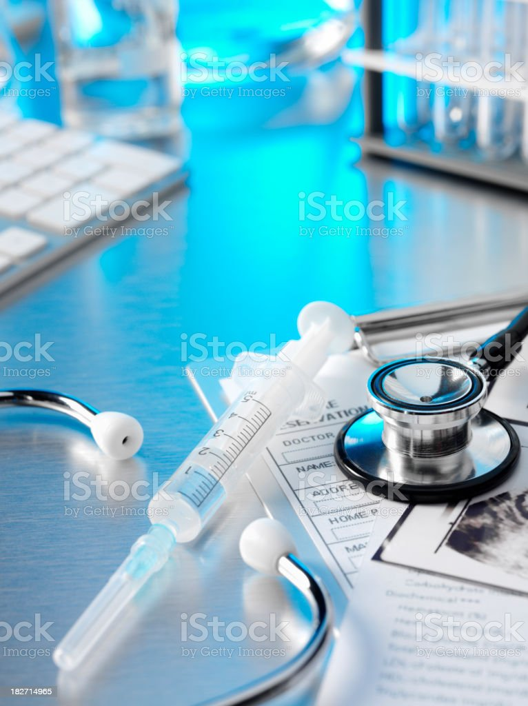 Stethoscope and Medical Notes royalty-free stock photo