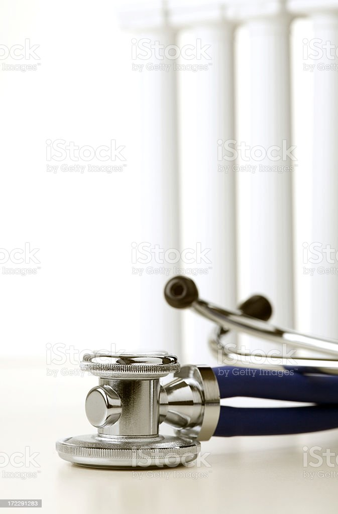 Stethoscope and pillars royalty-free stock photo