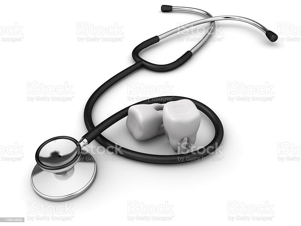 Stethoscope and teeth stock photo