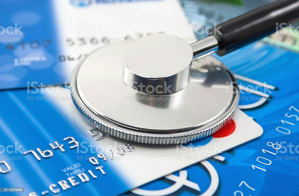 stethoscope by  Credit cards payment stock photo