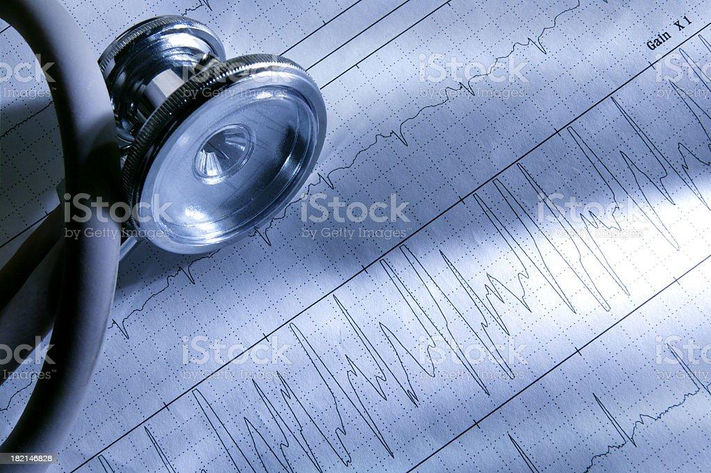 Stethoscope & ECG 5 royalty-free stock photo