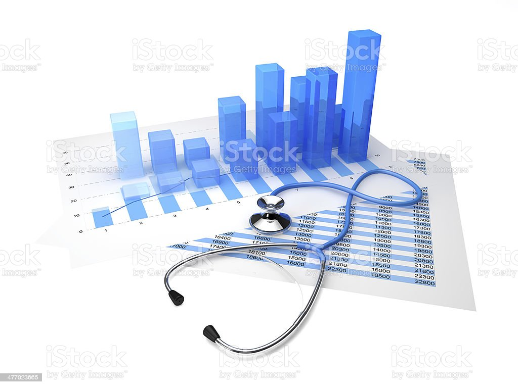 Stethoscope graphic stock photo