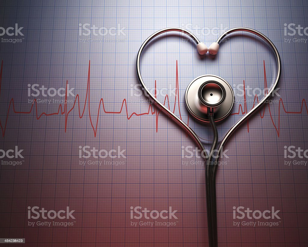 Stethoscope Heart Shape stock photo