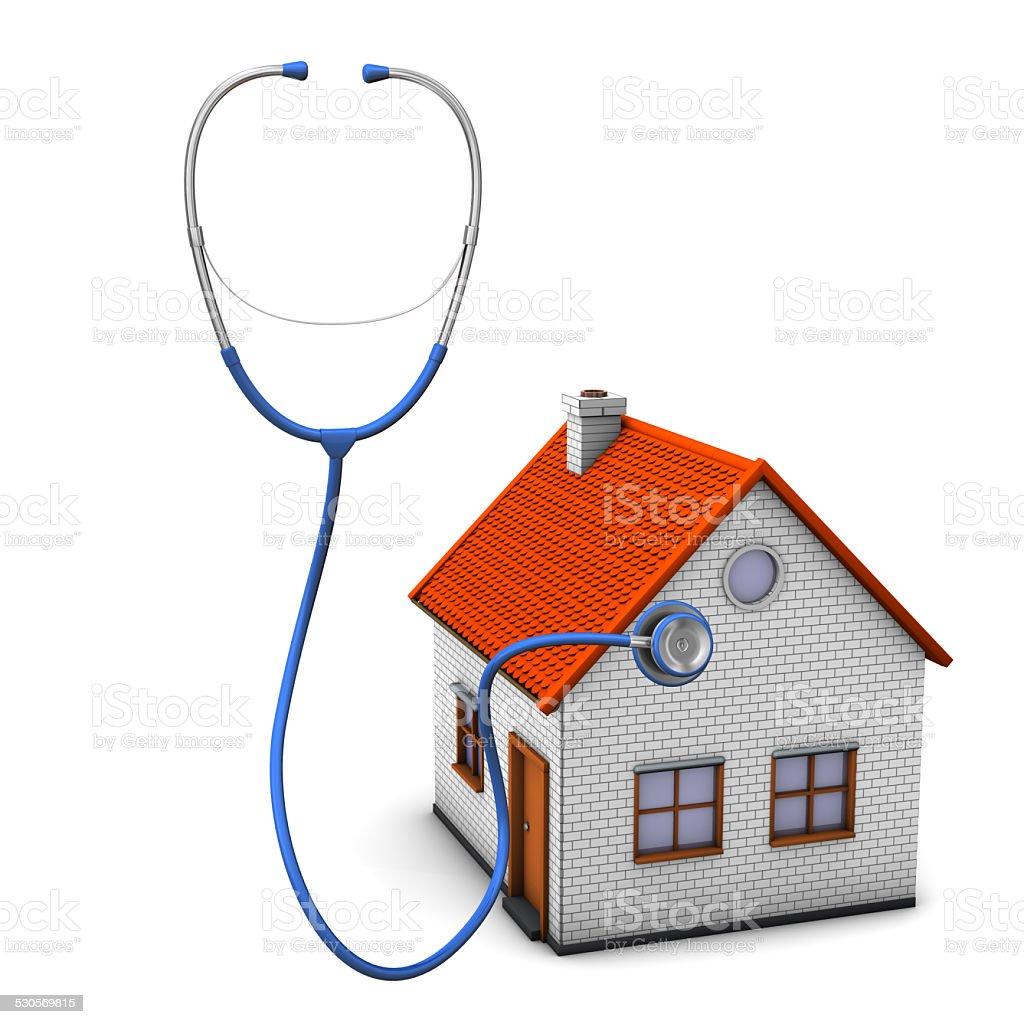 Stethoscope House stock photo