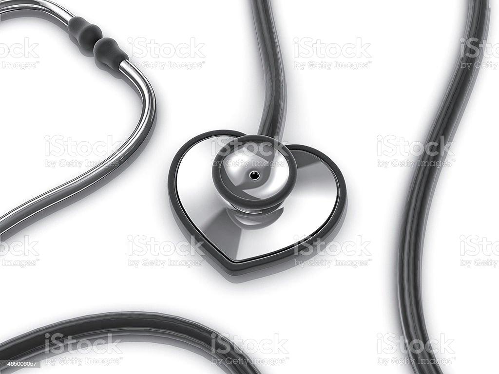 stethoscope in shape of heart stock photo