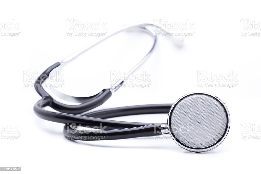 stethoscope isolated royalty-free stock photo