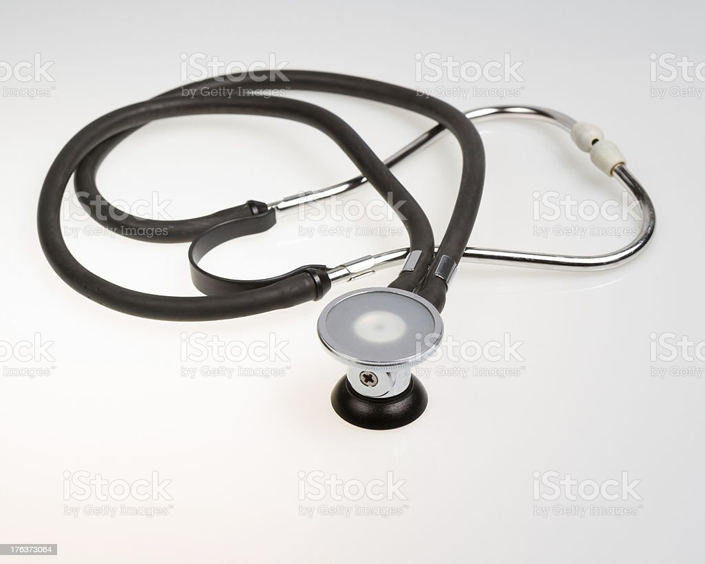 Stethoscope on gradient white background stock photo