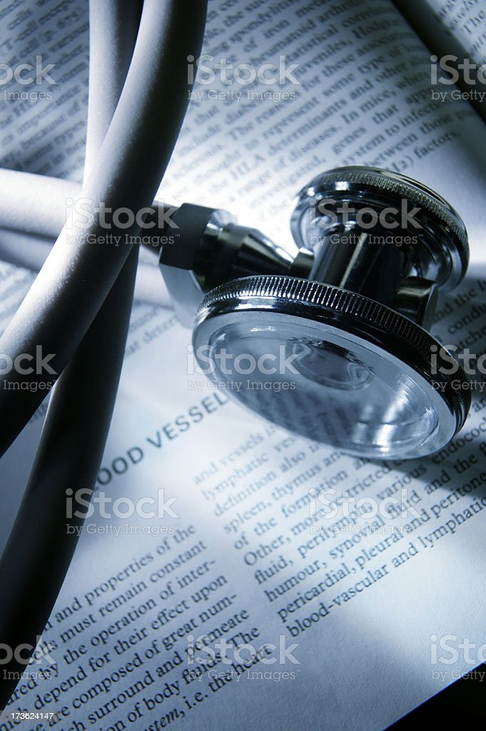 Stethoscope on Medical Textbook 1 royalty-free stock photo