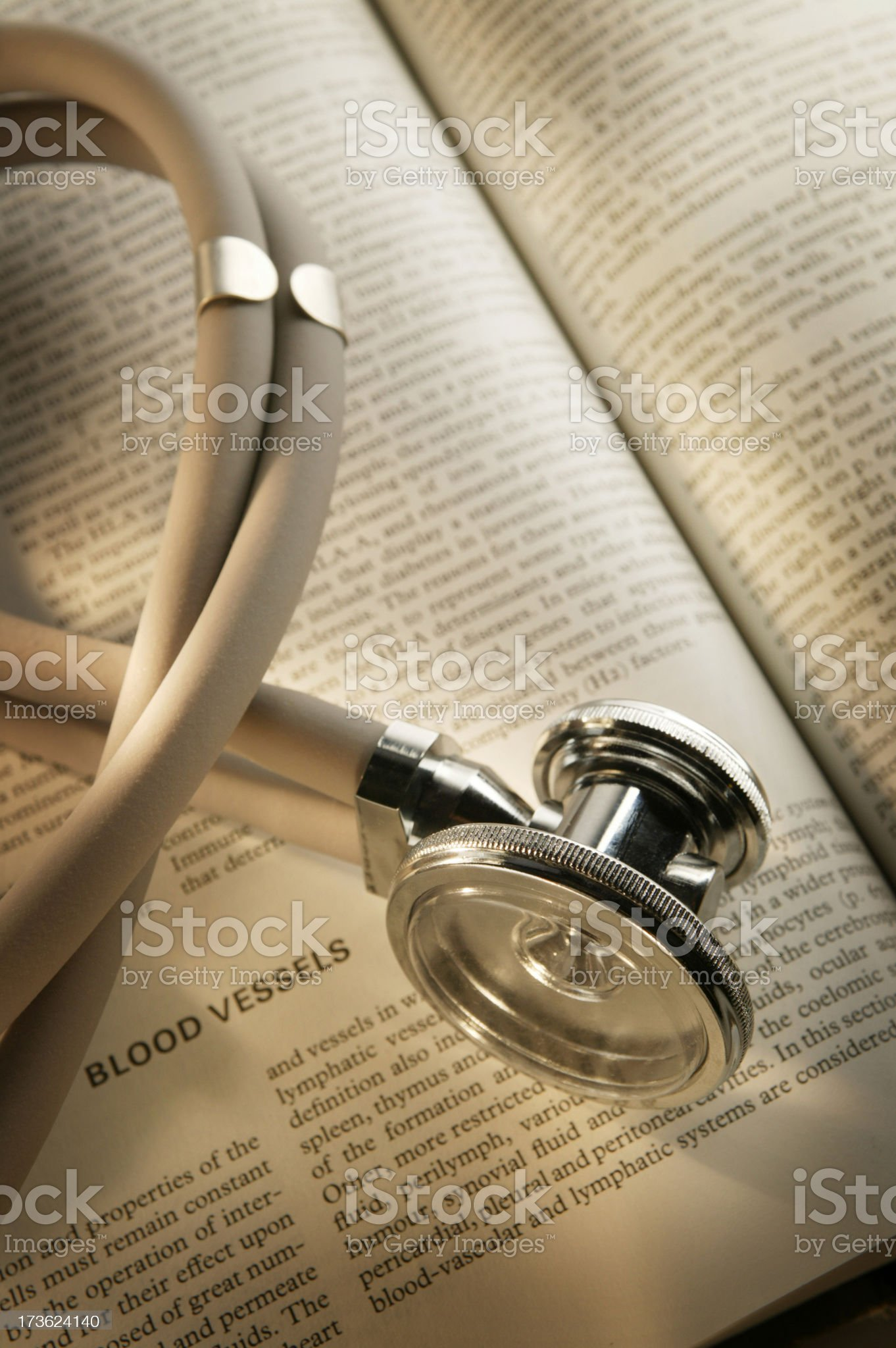 Stethoscope on Medical Textbook 3 royalty-free stock photo