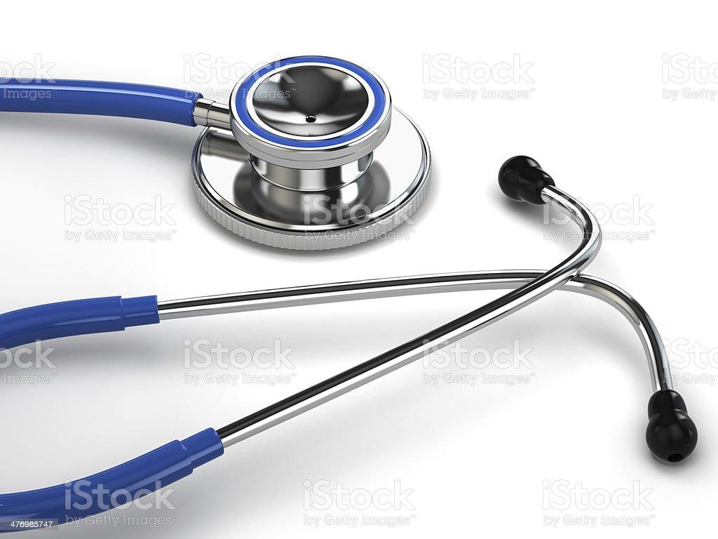 Stethoscope on white isolated background. royalty-free stock photo