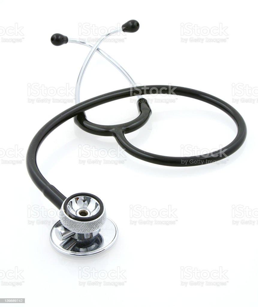 stethoscope on white royalty-free stock photo