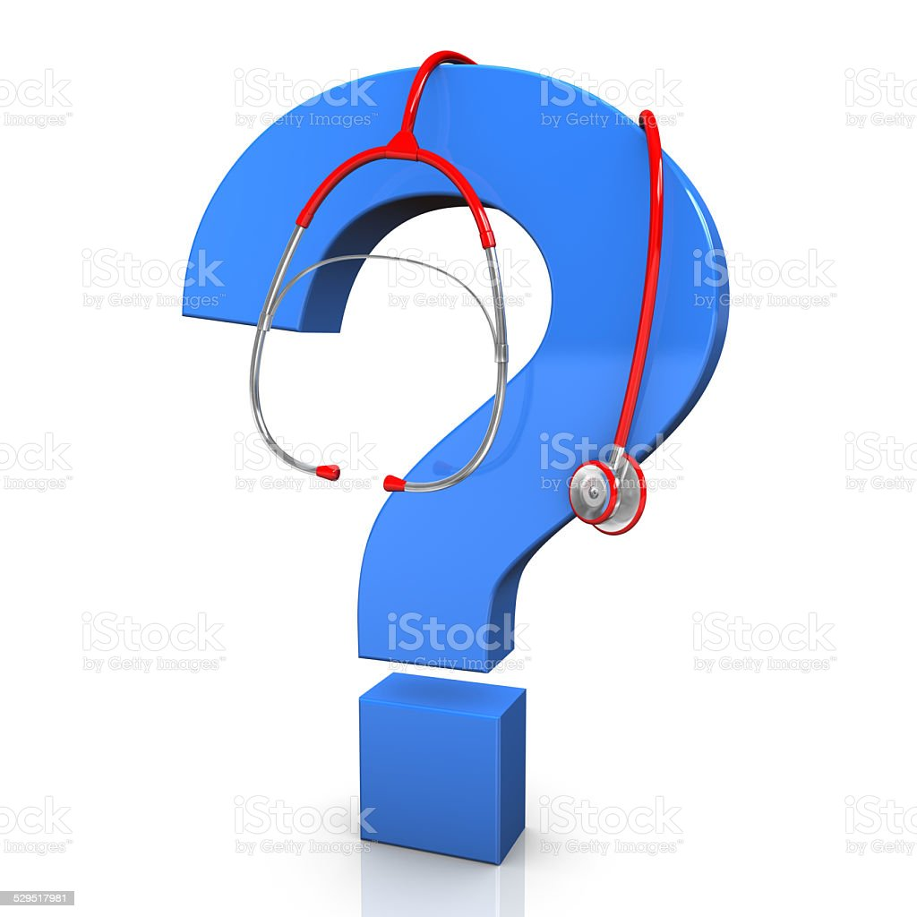 Stethoscope Question Mark stock photo