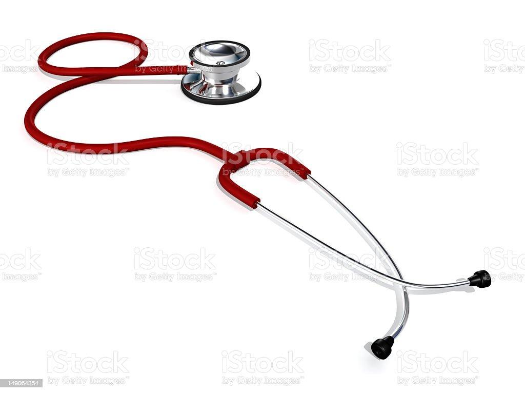 Stethoscope render royalty-free stock photo