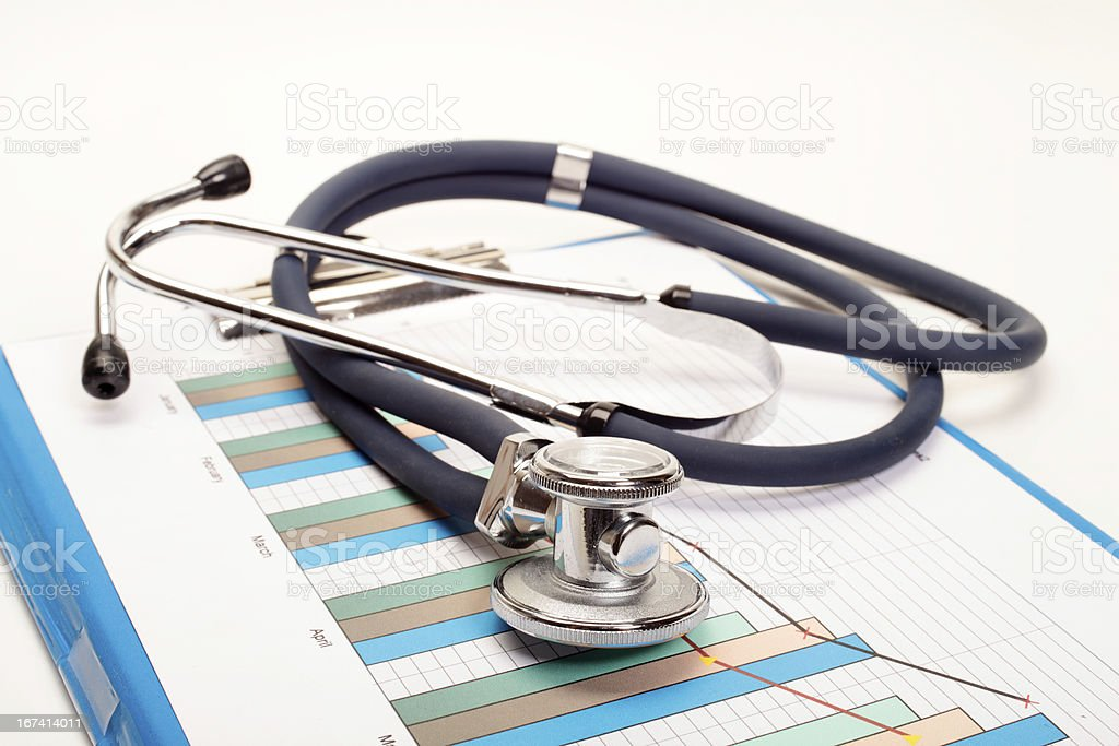 Stethoscope - Research of balance royalty-free stock photo