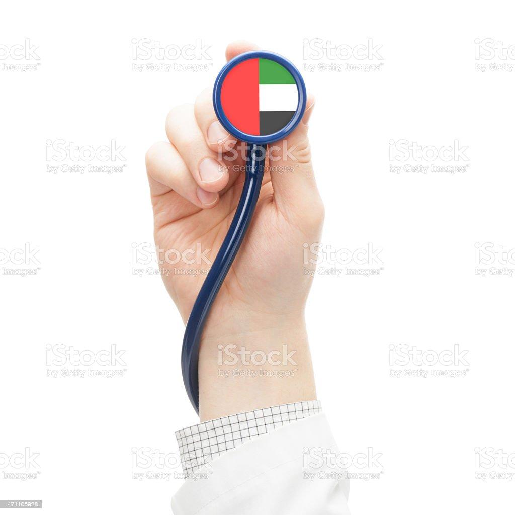 Stethoscope with flag series - United Arab Emirates stock photo