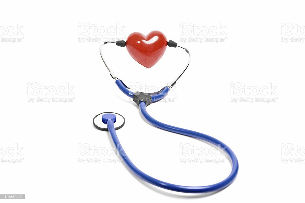 Stethoscope with heart stock photo