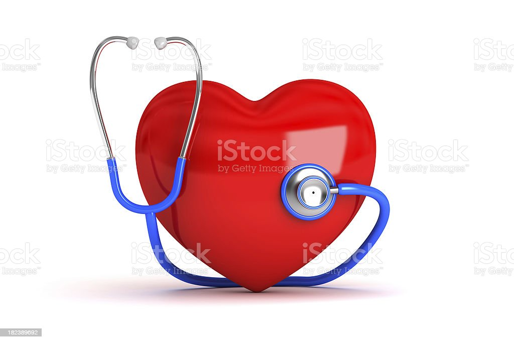 stethoscope with hearth royalty-free stock photo