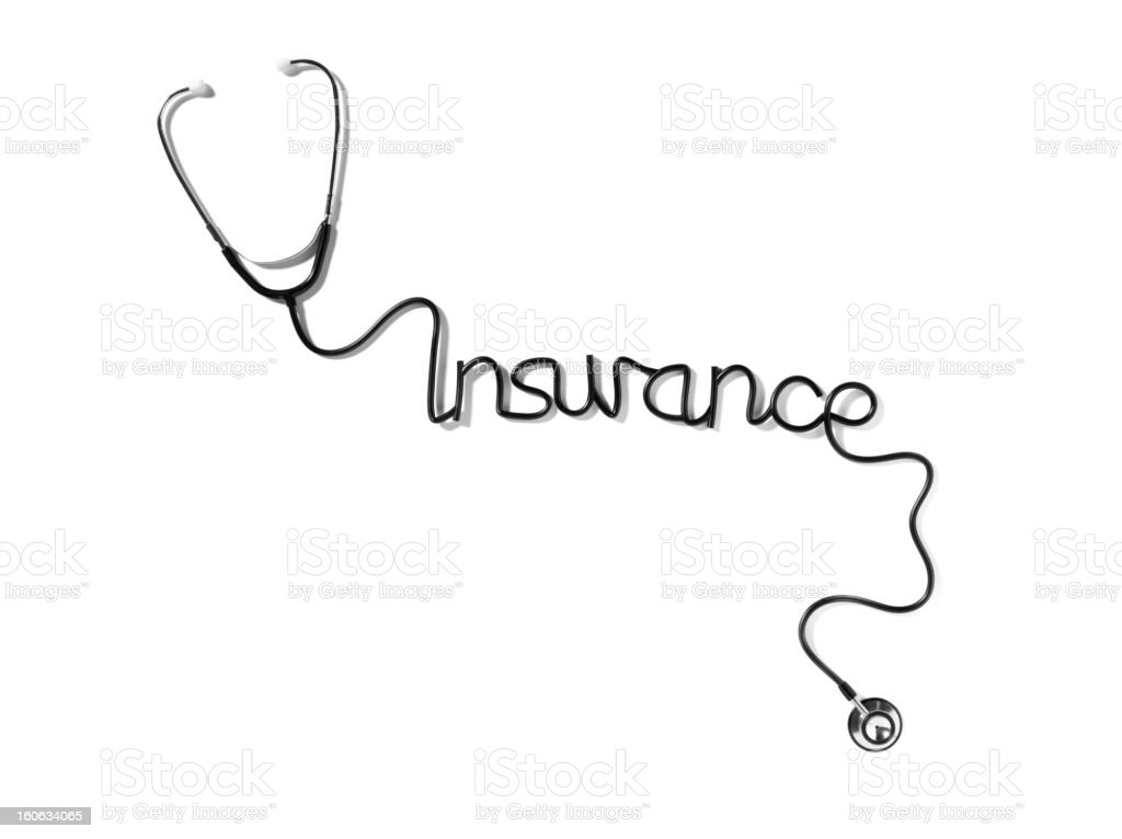 Stethoscope with Medical insurance royalty-free stock photo