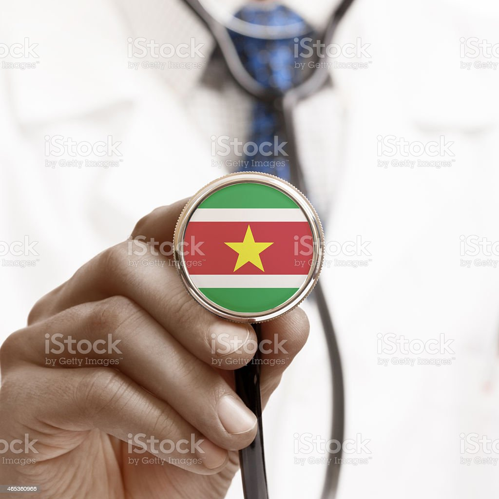 Stethoscope with national flag conceptual series - Republic of S stock photo