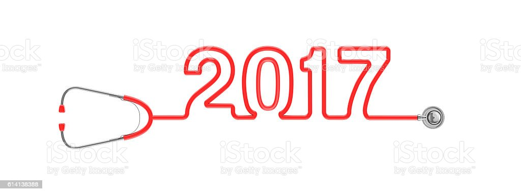 Stethoscope year 2017 stock photo